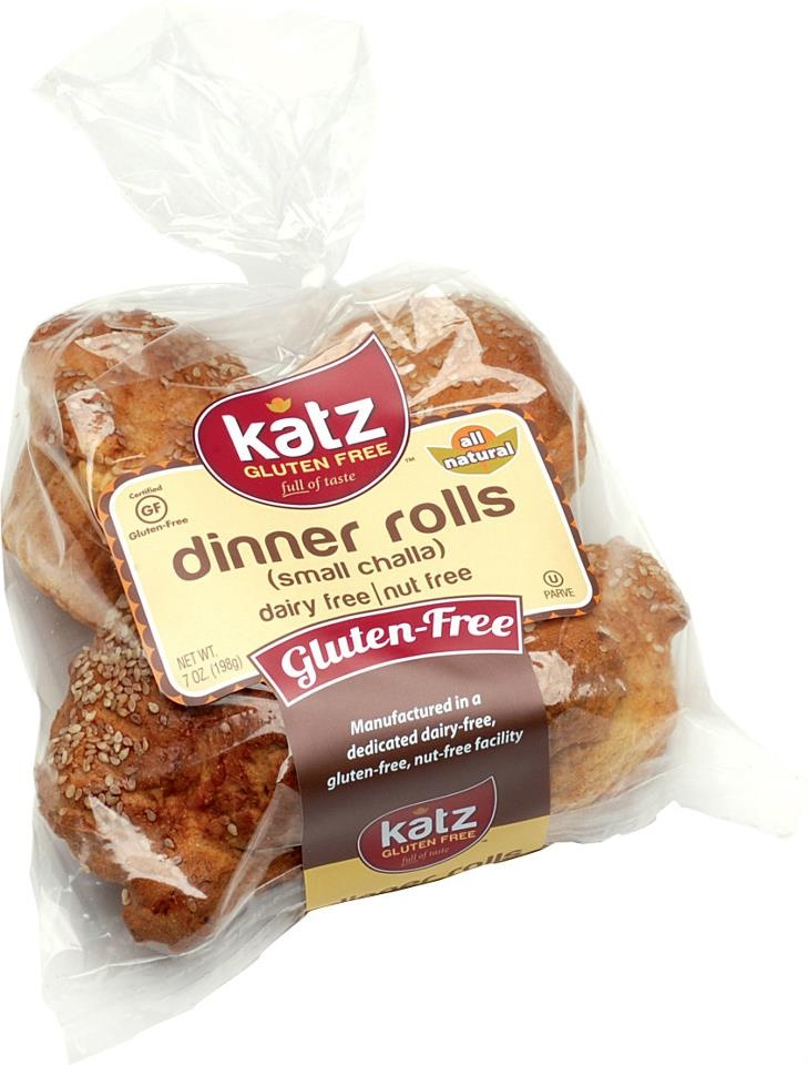 Katz Gluten Free Rolls: Challah, Buns and More, made in a Certified Gluten-Free, Dairy-Free Kosher Parve, Nut-Free Facility