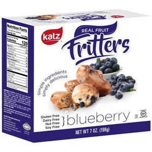 Katz Fritters Reviews and Info - gluten-free, dairy-free, nut-free, soy-free apple fritters, cherry fritters, and blueberry fritters - made just like traditional fritters
