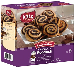 Katz Gluten Free Rugelach Reviews and Info - It's Free of Dairy, Nuts, and Soy, Too. Pictured: Chocolate