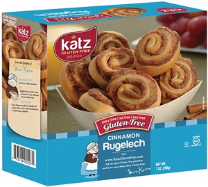 Katz Gluten Free Rugelach Reviews and Info - It's Free of Dairy, Nuts, and Soy, Too. Pictured: Cinnamon