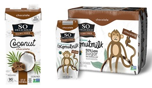 So Delicious Coconut Milk Beverage is an Organic Dairy-Free Staple - Reviews and Info on this dairy-free, vegan, gluten-free, soy-free line of milk alternatives. Pictured: Chocolate