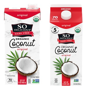 So Delicious Coconut Milk Beverage is an Organic Dairy-Free Staple - Reviews and Info on this dairy-free, vegan, gluten-free, soy-free line of milk alternatives. Pictured: Original