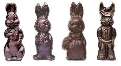 Vegan, Dairy-Free, and Gluten-Free Chocolate Easter Bunnies