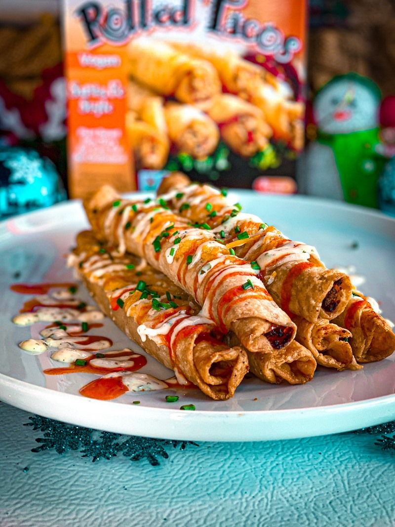 Starlite Cuisine Rolled Tacos Reviews and Info - vegan, dairy-free, three varieties