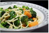Easy Veggie Udon from Alisa Fleming