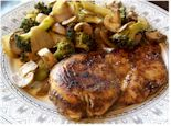 Balsamic Chicken with Sauteed Vegetables