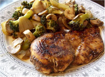 Balsamic Chicken and Sauteed Vegetables