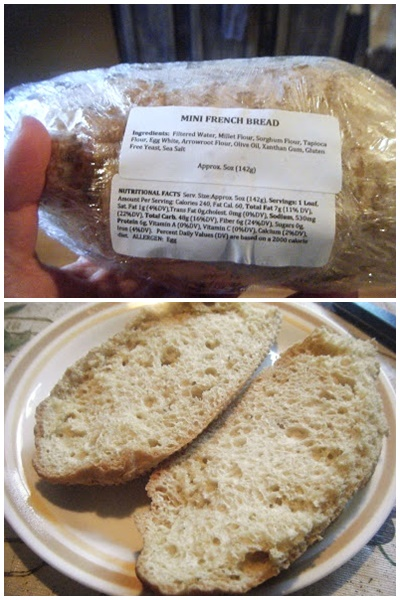 Island Gluten Free Bakery in Sarasota Florida ships nationwide (dairy-free French bread pictured)