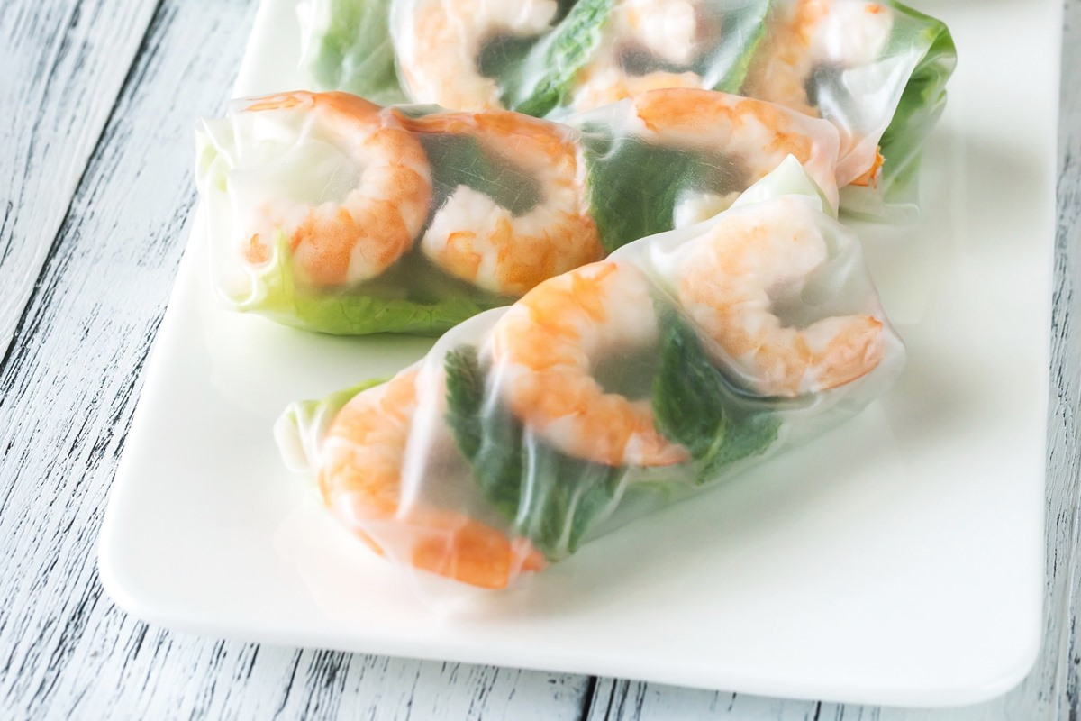 Healthy Shrimp Spring Rolls Recipe - naturally dairy-free, gluten-free, nut-free, and soy-free.