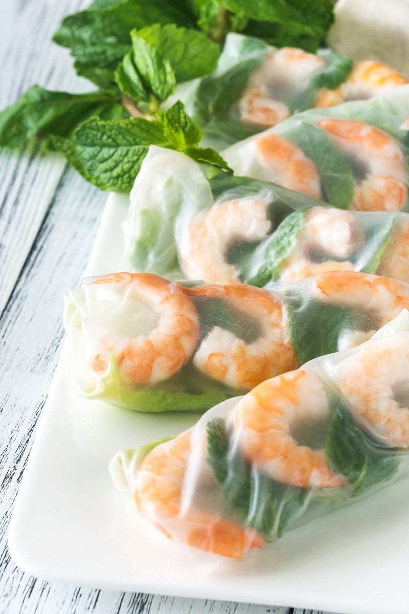 Healthy Shrimp Spring Rolls Recipe with Low Sugar Orange Dipping Sauce - dairy-free, gluten-free, nut-free, soy-free