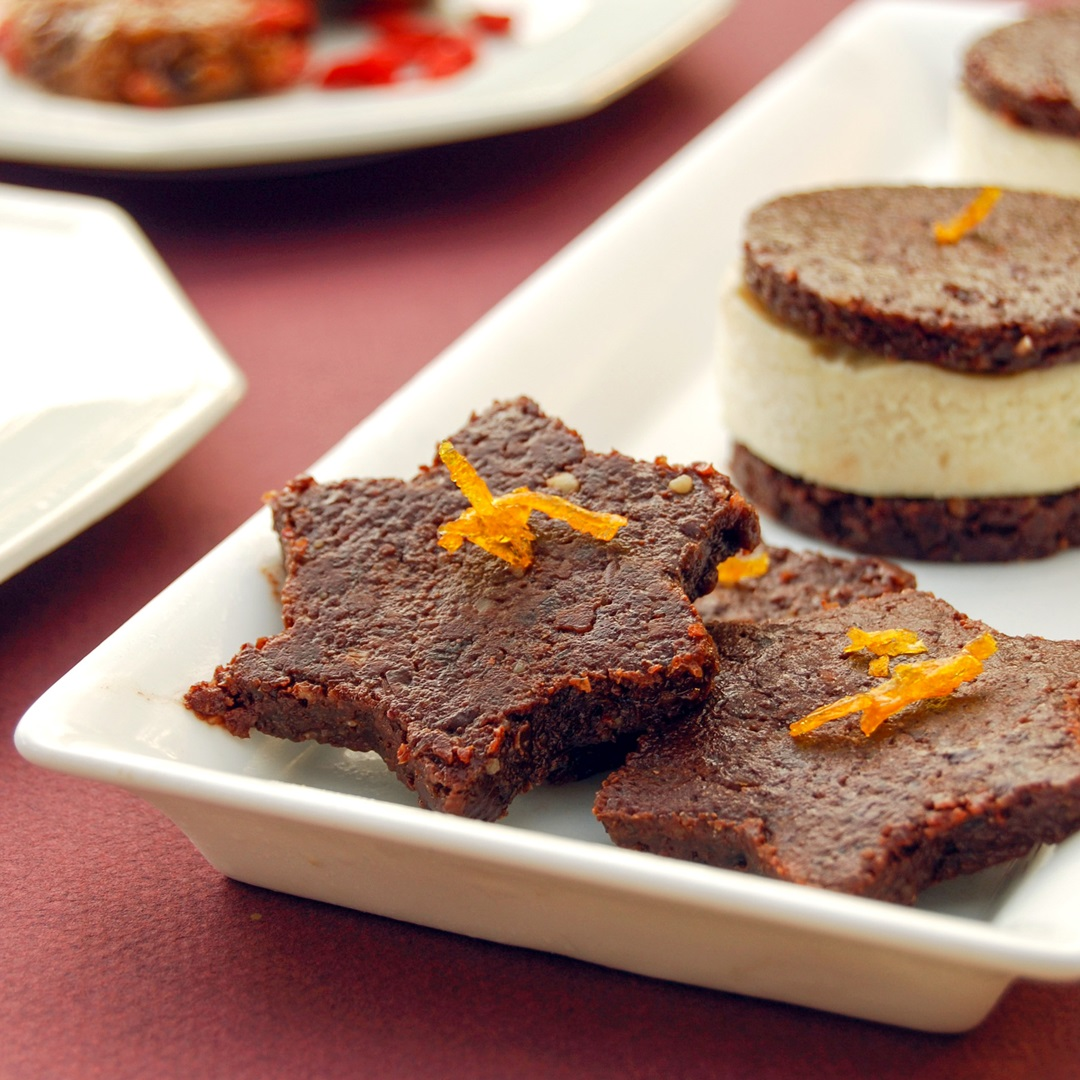 Raw Carob Walnut Cookies Recipe - A Healthy Vegan, Paleo Treat by famed Organic Chef Ani Phyo