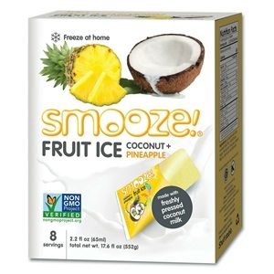 "Smooze Fruit Ice Reviews and Information - Allergy-friendly, lightly creamy and tropical - like dairy-free ""ice milk"" pops. Allergy-friendly, kosher parve, and vegan. Pictured:"