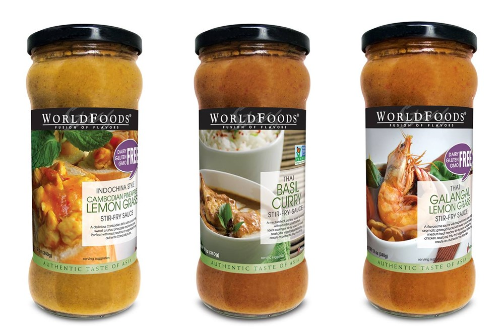World Foods Stir Fry Sauces - natural, vegan, gluten-free and sold world-wide