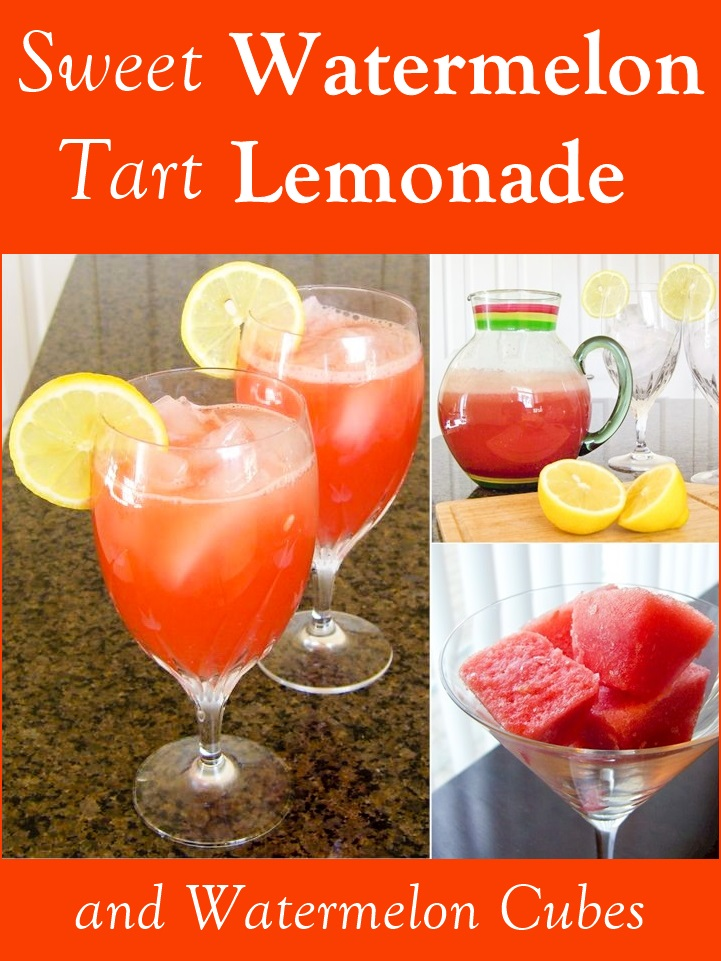 Sweet-Tart Watermelon Lemonade Recipe and Icy Watermelon Cubes
