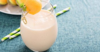 Creamy Cantaloupe Smoothie Recipe - dairy-free, allergy-friendly and easy