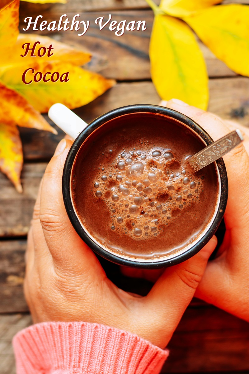 Healthy Vegan Hot Cocoa Recipe - with paleo and allergy-friendly options - simple, warm, homemade goodness that you can make sugar free!