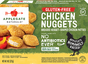 Applegate Farms Chicken Nuggets Reviews and Info - wheat, gluten-free, organic, and natural options - all antibiotic-free, nitrate-free, filler-free, dairy-free, egg-free, and more!