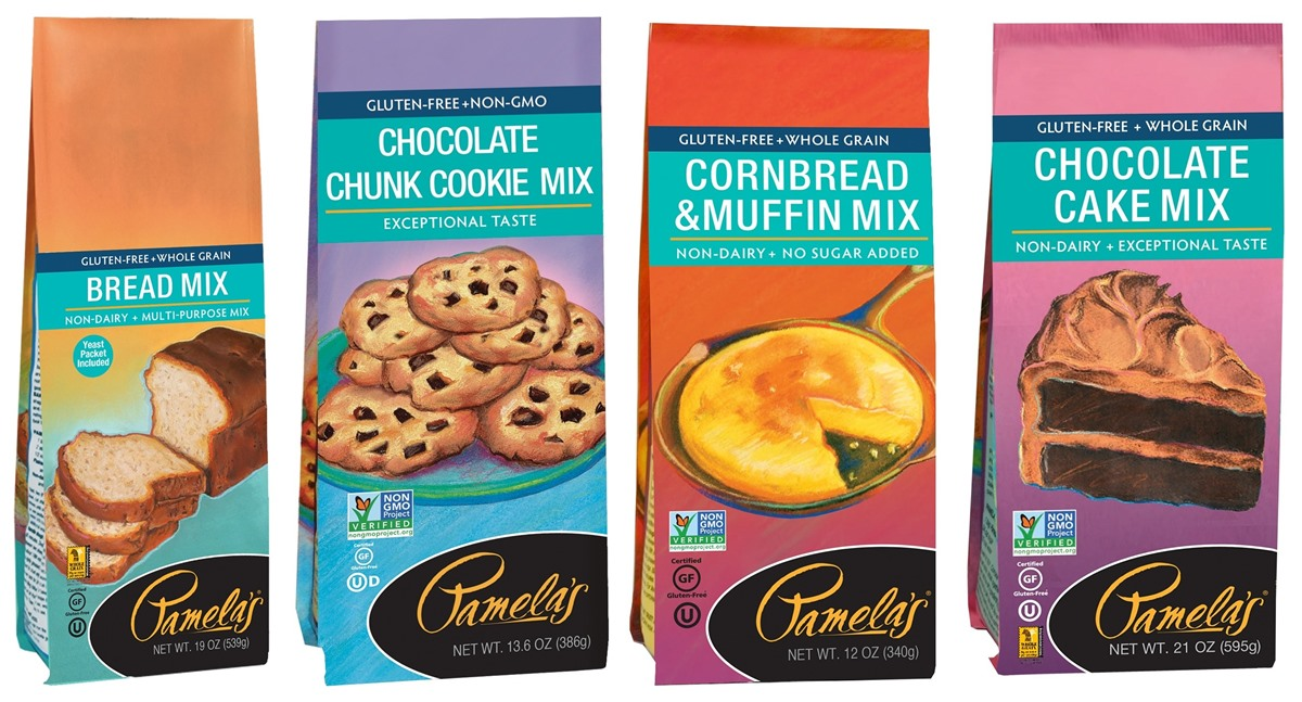 Pamela's Baking Mixes (Gluten-Free) Reviews and Info (Dairy-Free Varieties) - Chocolate Cake, White Cake, Bread, Cornbread, Cookies
