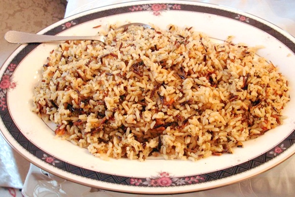 Chestnut Wild Rice Pilaf Recipe - a dairy-free, gluten-free, vegan side dish with Middle Eastern flair