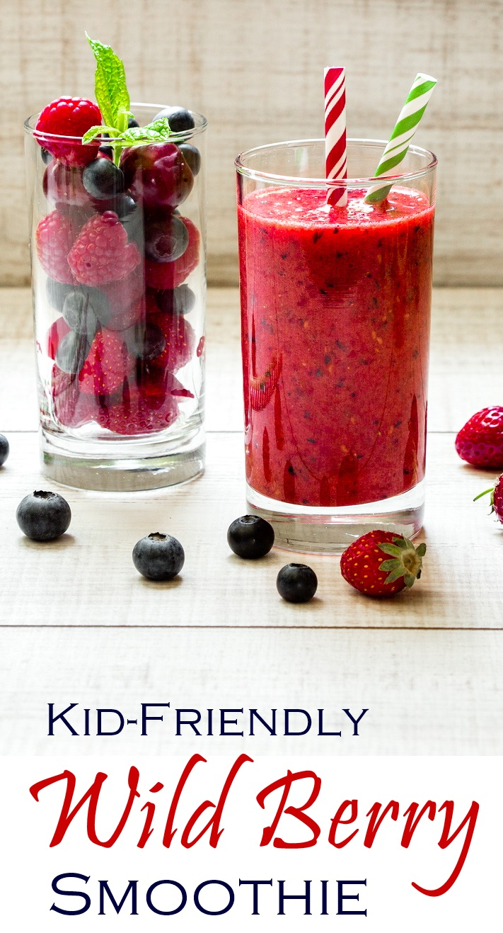 Kid-Friendly Wild Berry Smoothie Recipe - dairy-free, plant-based and allergy-friendly