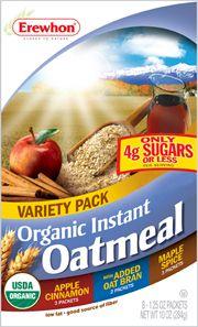 Erewhon Organic Instant Oatmeal