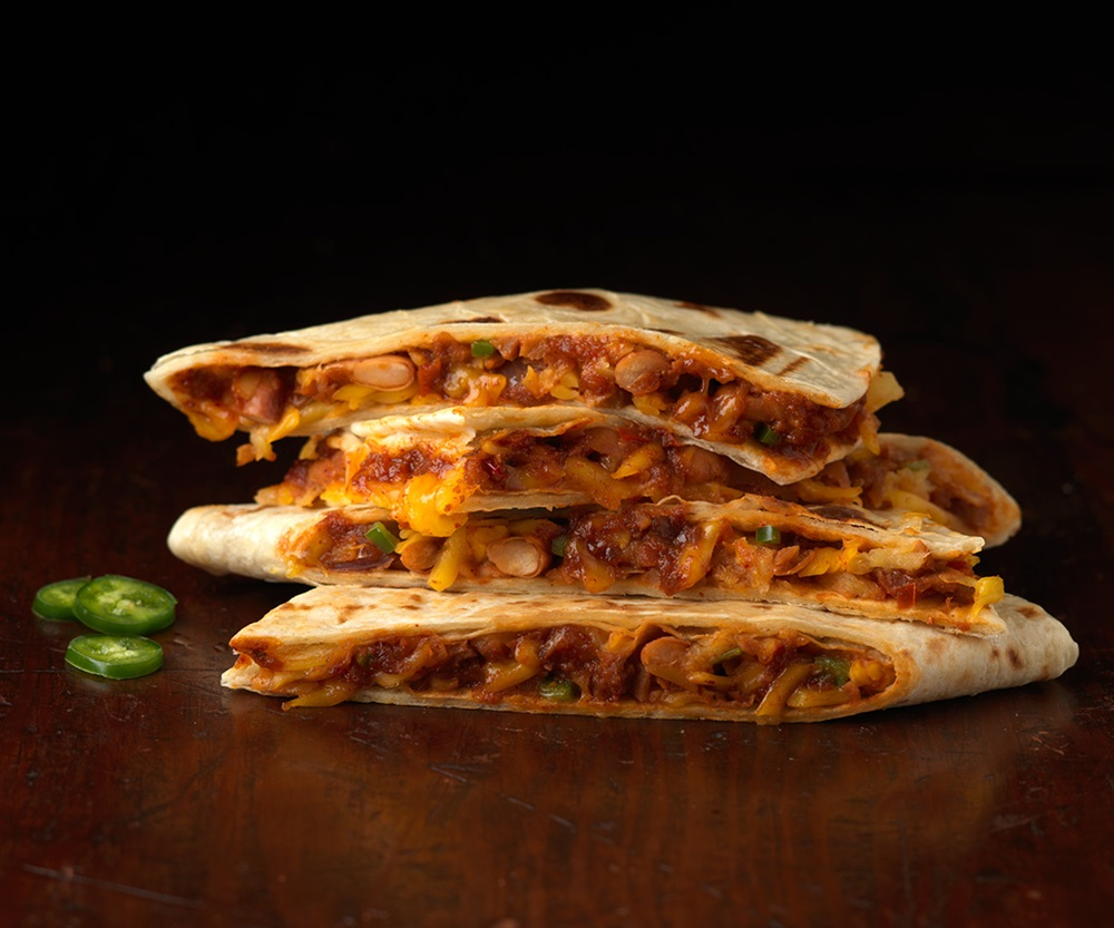 Sweet Earth Frozen Quesadillas - Vegan Variety - Aloha BBQ is made with dairy-free cheese and plant-based meat!