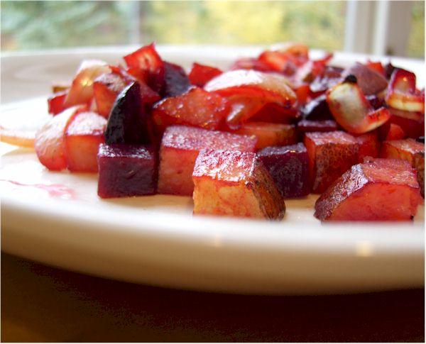 Red Flannel Beet and Potato Hash