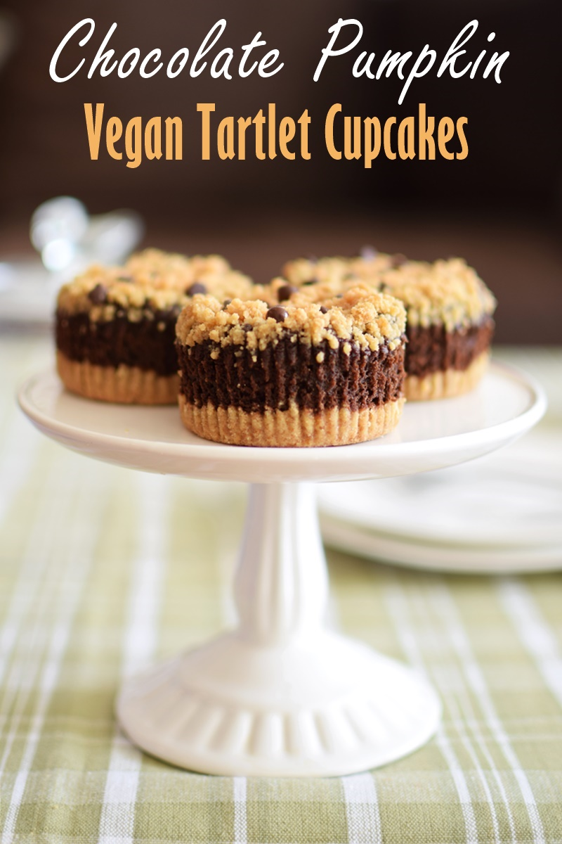 Chocolate Pumpkin Tartlet Cupcakes Recipe (vegan, gluten-free, dairy-free, nut-free and soy-free!)