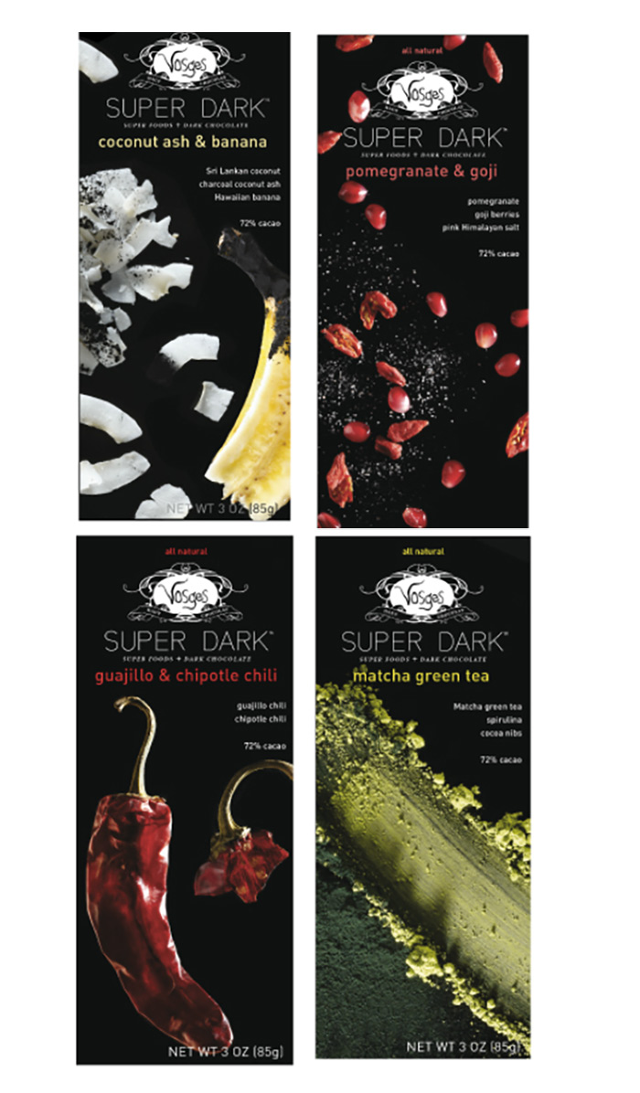 Vosges Chocolate - Gourmet chocolate bars with many unique dairy-free varieties.