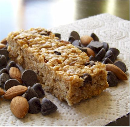 No Bake Chocolate Chip Granola Bars from Go Dairy Free