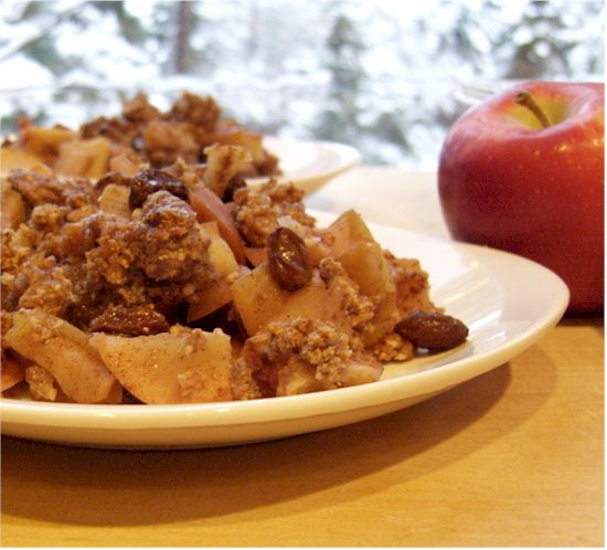 Apple Raisin Crumble - adapted from The Gluten-Free Almond Flour Cookbook