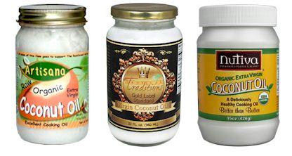 Organic Coconut Oil –Comparison - Artisana, Tropical Traditions, and Nutiva (plus dairy-free recipes)