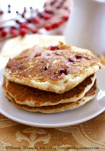 Cranberry and Cornmeal Pancakes (egg-free and dairy-free)