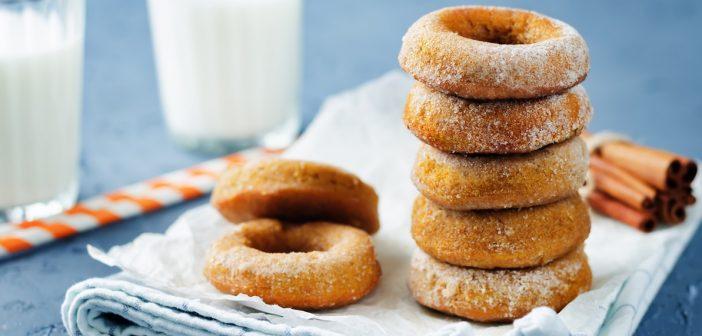 Vegan Baked Sweet Potato Donuts with Cinnamon Sugar Sprinkle