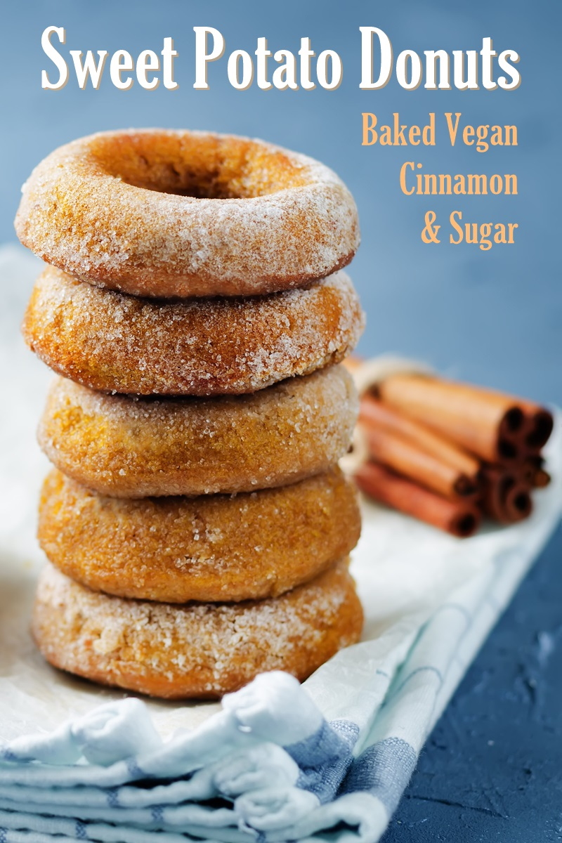 Baked Sweet Potato Donuts Recipe - Vegan, Low Fat, and optionally Oil-Free! #sweetpotatodonuts #bakeddonuts #vegandonuts