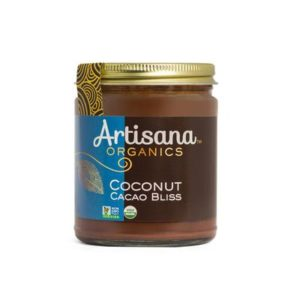 Artisana Organics Cacao Spreads Review (dairy-free, gluten-free, soy-free, vegan). Pictured: Cacao Coconut Bliss