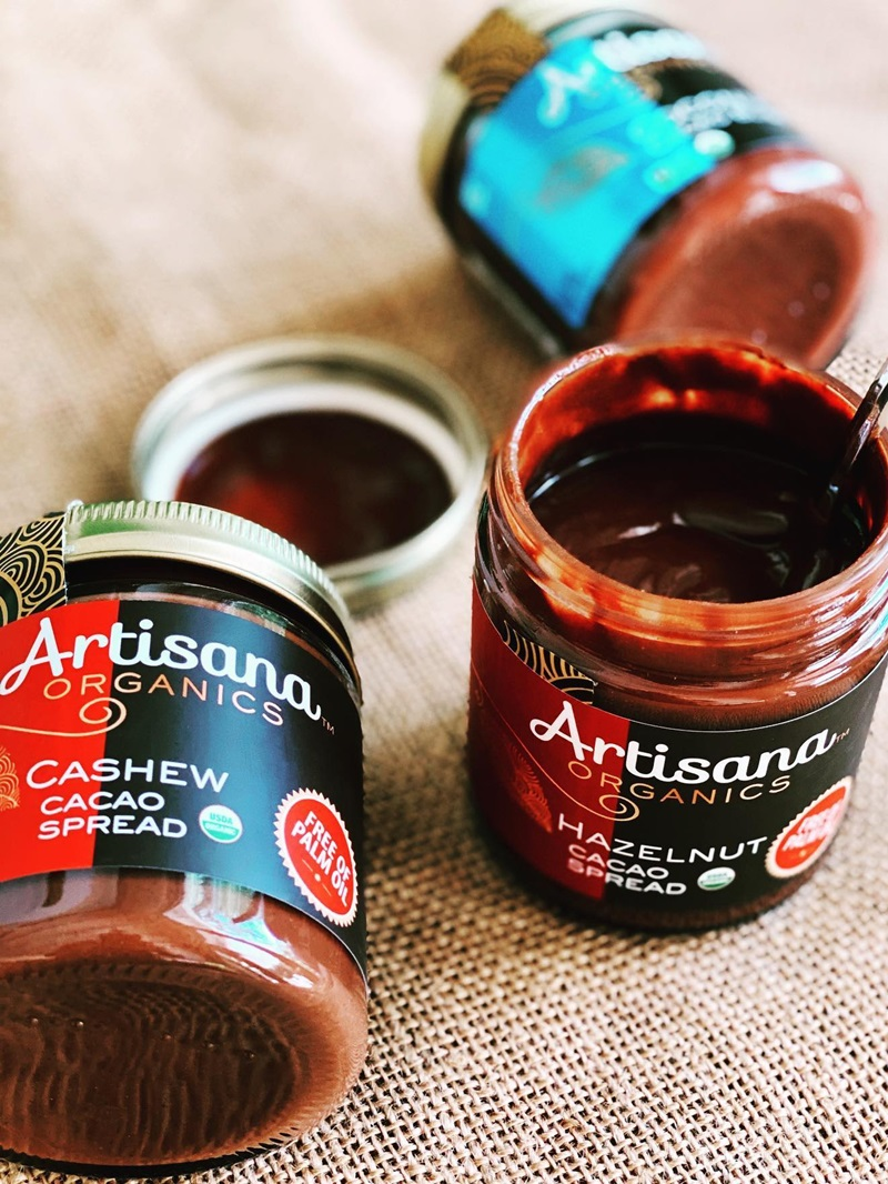Artisana Organics Cacao Spreads Review (dairy-free, gluten-free, soy-free, vegan). Pictured: All Three