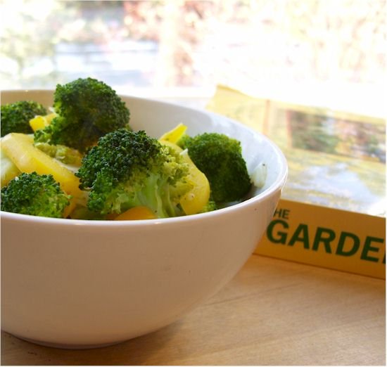 Simmered Broccoli from Garden of Eating