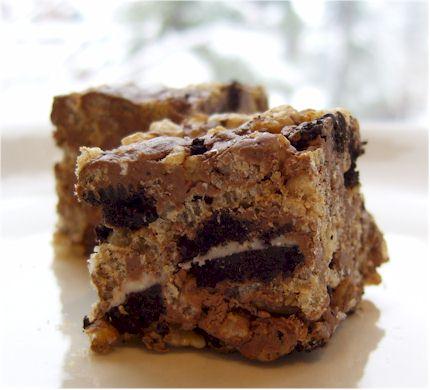 Chocolate Peppermint Oreo Crispy Treats  - Dairy-Free Decadence
