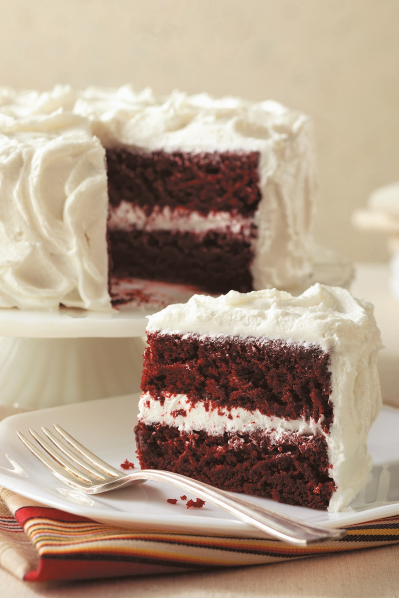 Gluten-Free Red Velvet Cake with Vegan Velvet Frosting (Recipe)