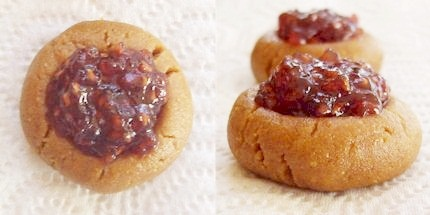 Peanut Butter & Jelly No Bake Thumbprints Cookie Recipe - Vegan, Dairy-Free
