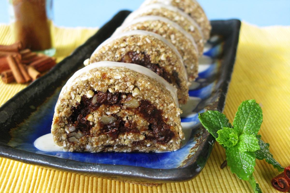 Raw Cinnamon Rolls Recipe - a vegan, gluten-free, healthy breakfast treat by a popular vegan cookbook author