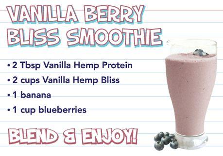 Vanilla Barry Bliss Smoothie - Vegan