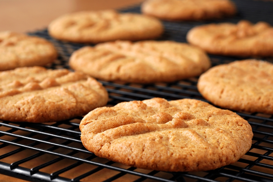 Easy 1-2-3 Ingredient Peanut Butter Cookies with Egg-free, Vegan Pantry Option (naturally dairy-free, gluten-free recipe) via GoDairyFree.org