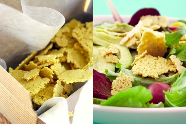 Vegan Parmesan Flakes - A simple dairy-free recipe for adding flavor to almost any dish