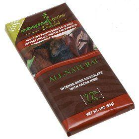 Endangered Species Intense Dark Chocolate w/ Cacao Nibs