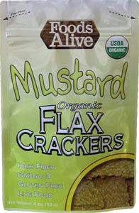 Foods Alive Mustard Flax Crackers