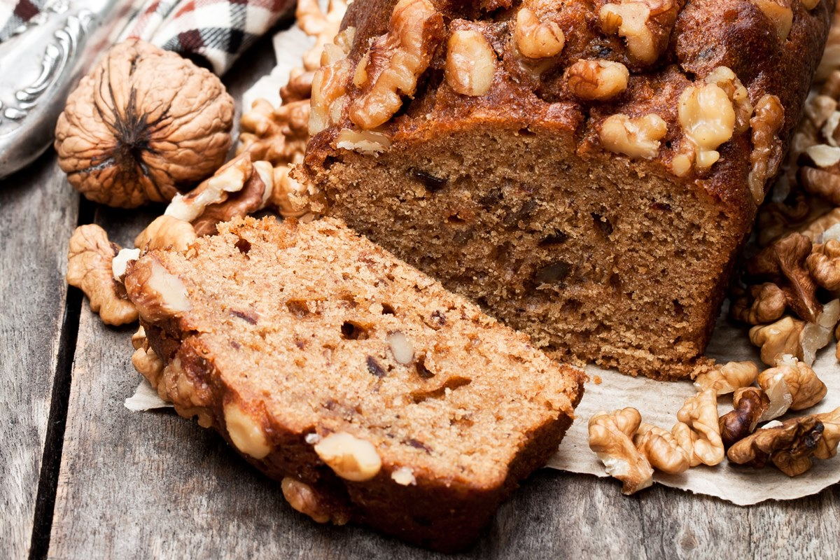 Dairy-Free Date Nut Bread Recipe with Muffin and Mini Loaf Options (can be made vegan or gluten-free). Great for teatime or holiday gifting.