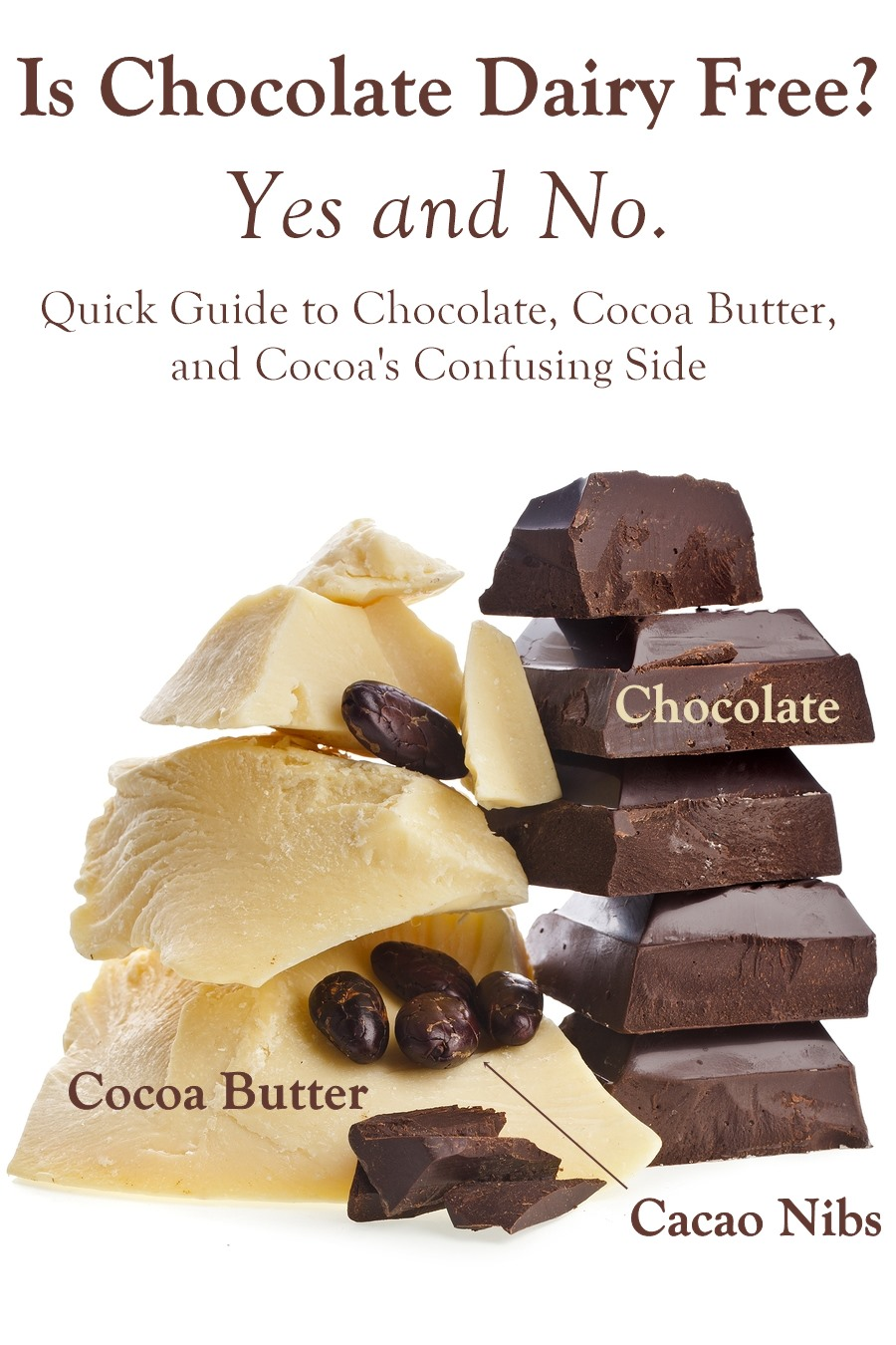 Chocolate is Dairy-Free - Understanding the Ingredients and why so many chocolate products contain dairy.