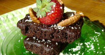 Gluten-Free, Dairy-Free Chocolate Cake Brownies Recipe with Homemade Chocolate Syrup
